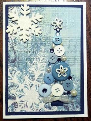 Cartão de Natal de Botões