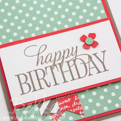 Birthday Card Made using supplies from Stampin' Up! UK