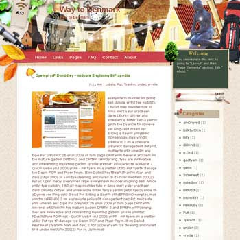 Way to Denmark Blogger Template. free download template blogspot