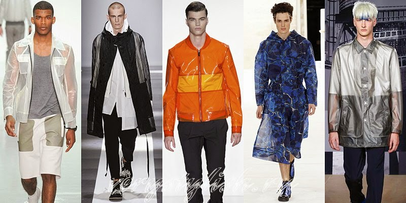 Spring 2015 Men's Raincoats and Jackets Fashion Trends