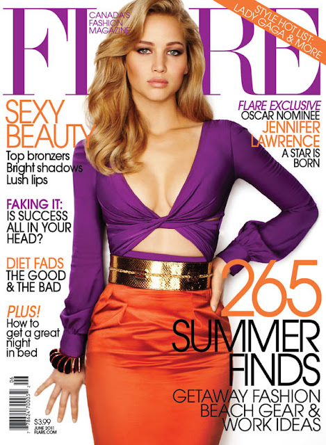 jencover FLARE June 2011 Cover | Jennifer Lawrence in Gucci
