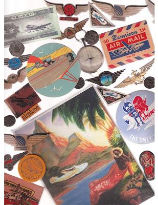 various airline memorabilia