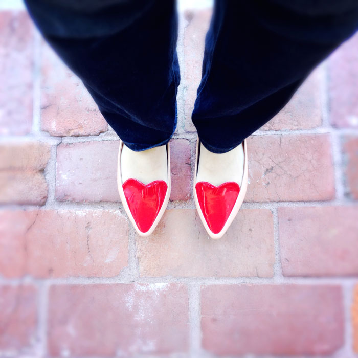 Topshop Heart Loafers | Bangles and Bungalows