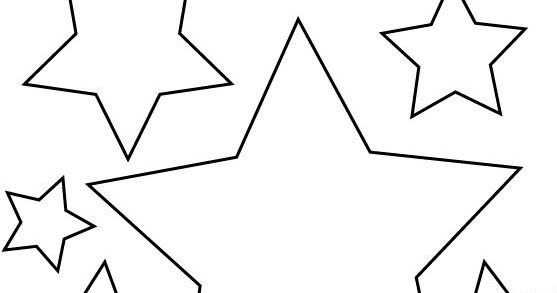 Colorea tus dibujos estrellas para colorear e imprimir - Siluetas para imprimir ...