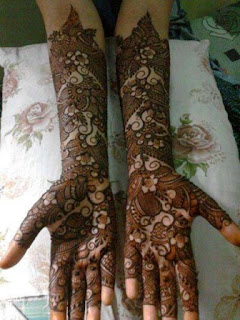 latest mehndi designs for brides