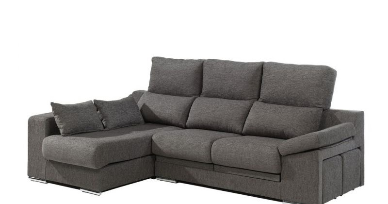 Sof con chaiselongue mod donosti muebles industria for Muebles industria
