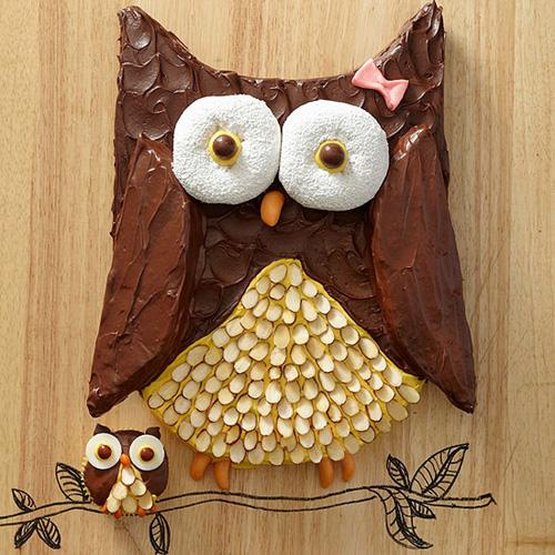My Owl Barn DIY Cute Owl Cake and Baby Owl Cupcakes