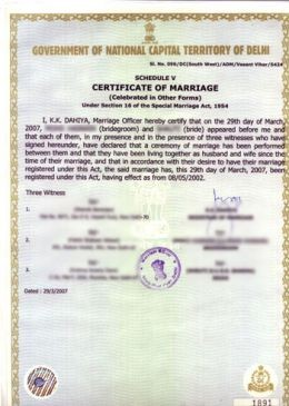 Apply For Marriage Certificate-Online