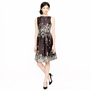 J. Crew Collection Printed Floral Shantung Dress