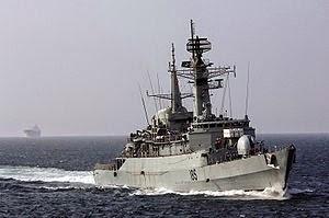 Fragata Tipo 21 HMS Avenger (vendida a Pakistán en 1994)