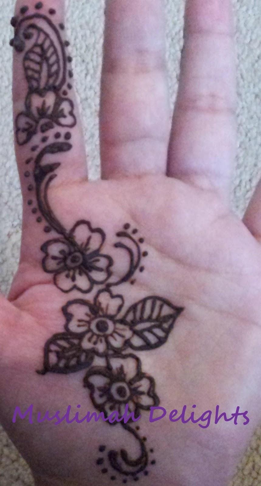 Muslimah Delights OOTD Eid Fitr 2013 Amp Easy Henna Design