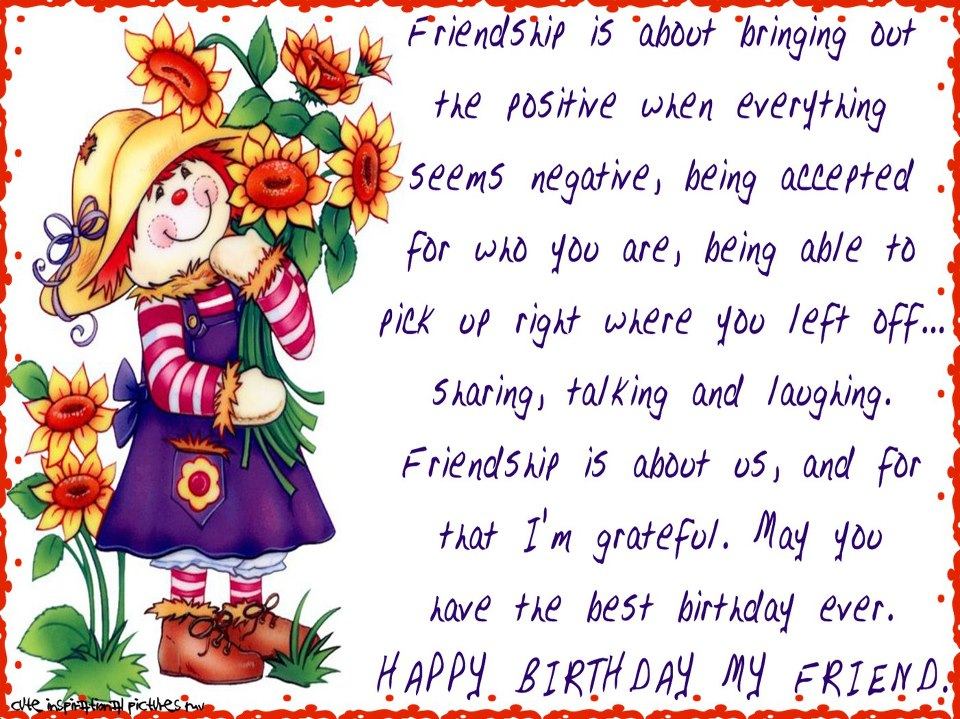 Happy Birthday Wishes For Friend Quotes. QuotesGram