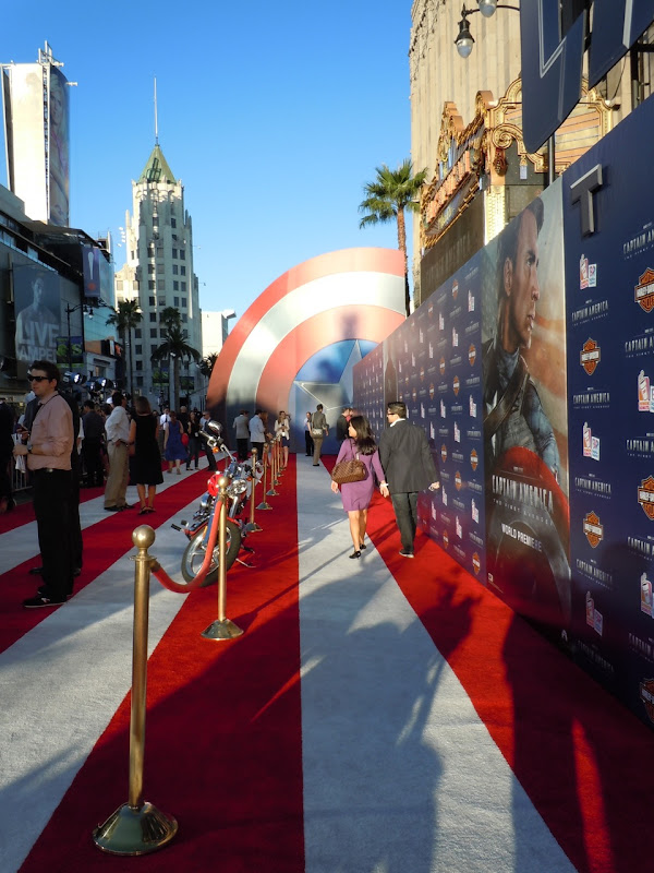 Captain America Hollywood premiere carpet