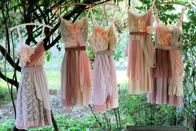 Nina renee designs eco friendly gorgeousness bridesmaid for Unique bohemian wedding dresses