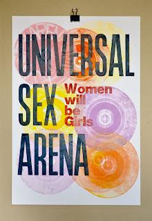 universal sex arena | letterpress poster