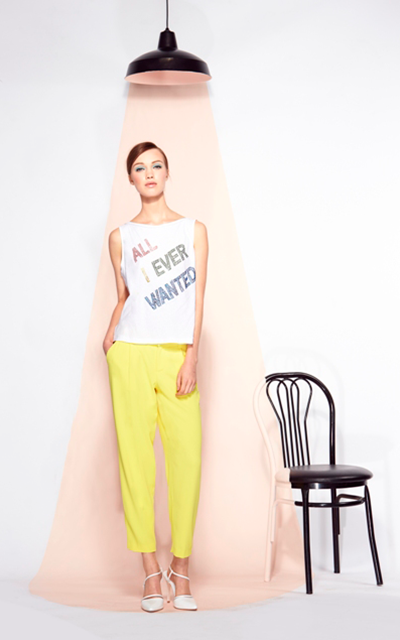 Alice + Olivia All I Ever Wanted Tank Arthur Pant Tootsies Spring Summer 2014