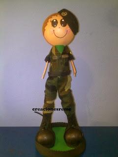 fofucha-creacionesreme-personalizadas-foami –militar-ejercito-tierra
