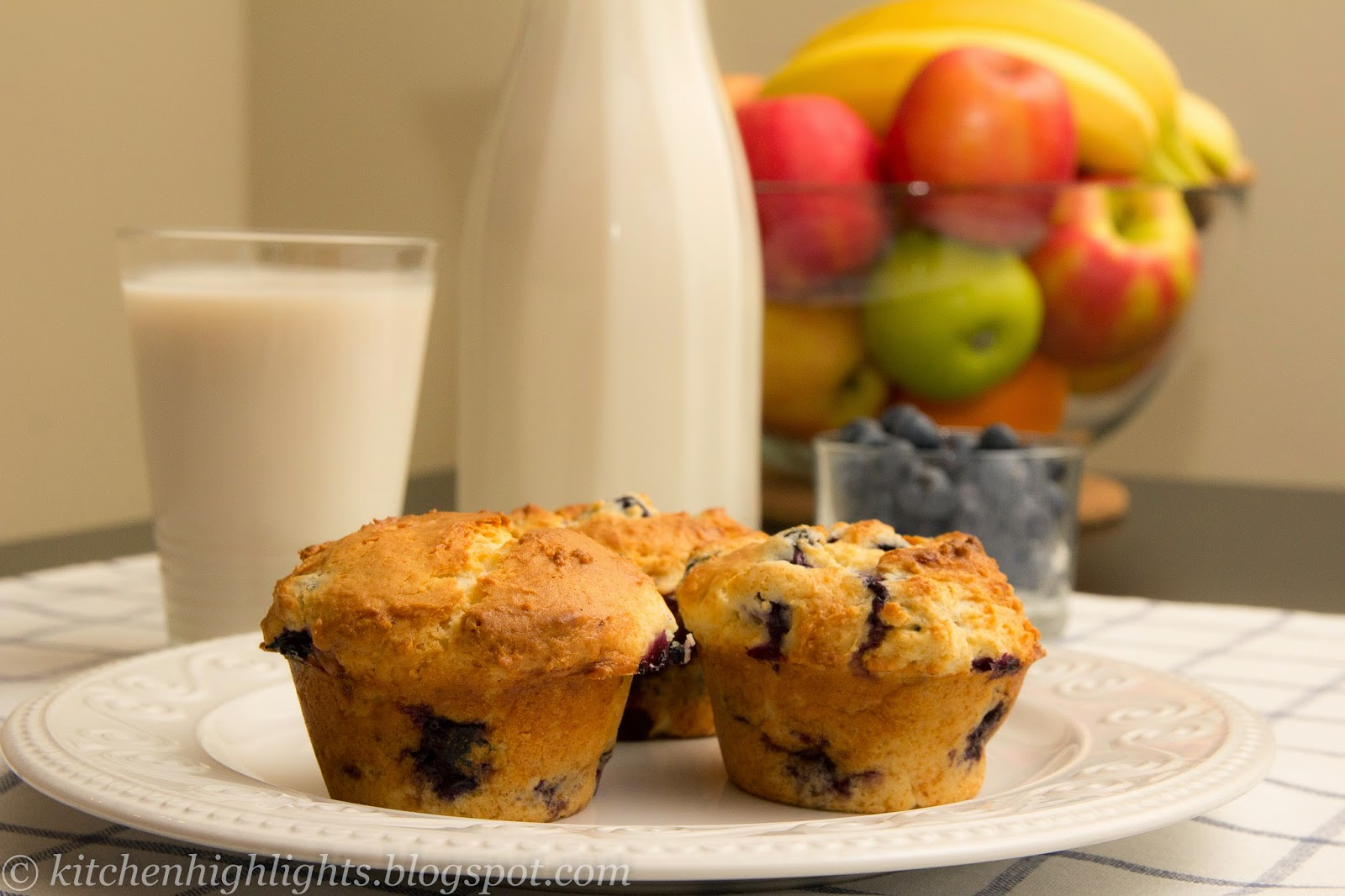 Warm blueberry muffins fresh from the oven are absolutely heavenly