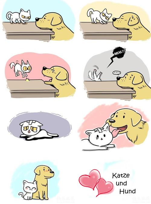 Cute Dog And Cat Happy Birthday