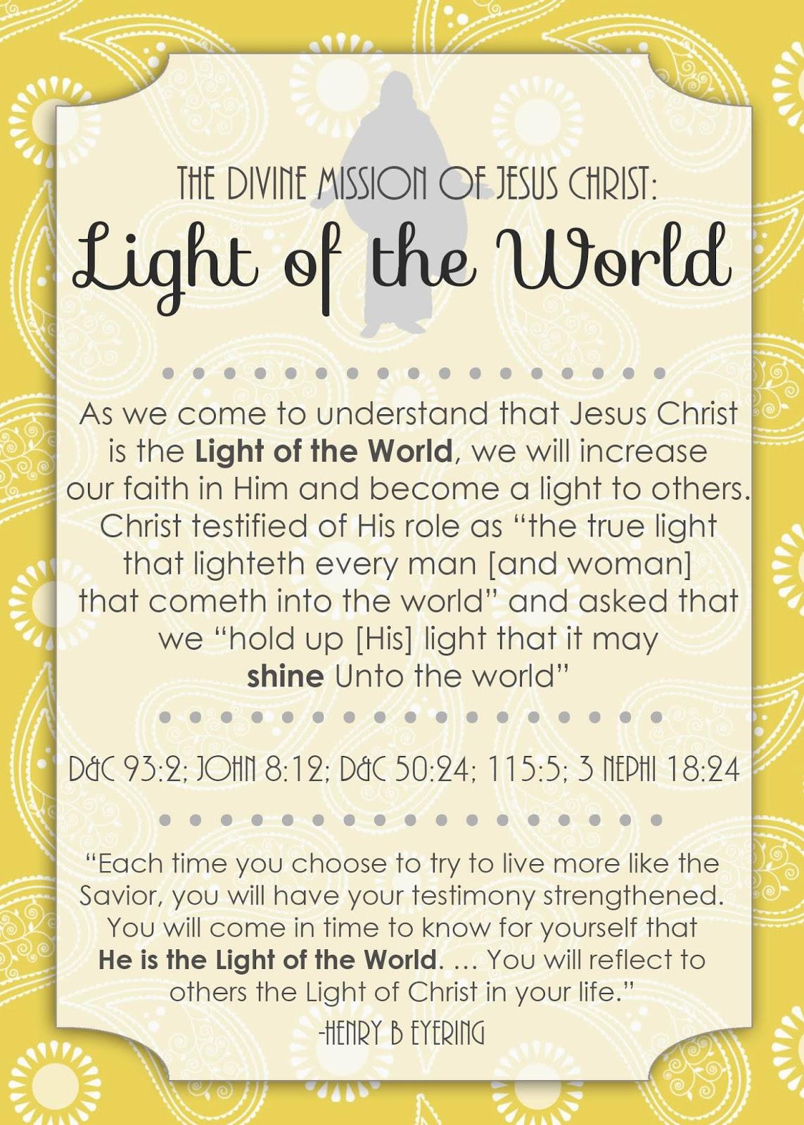 ... of Jesus Christ: Light of the World - Little LDS IdeasLittle LDS Ideas