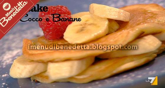 Pancake con Cocco e Banane di Benedetta Parodi