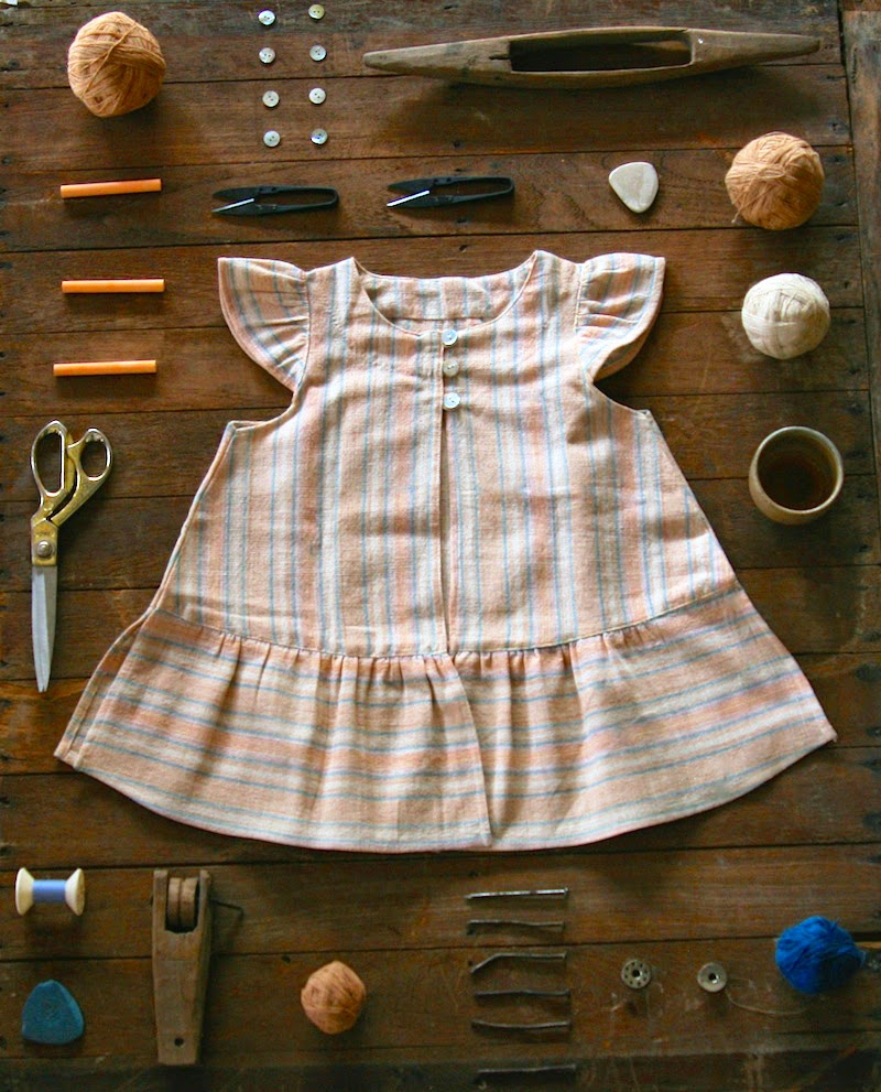 Vermilio dress - Ethical, sustainable and soulful kidswear with a story
