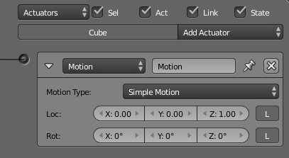 Actuators Motion