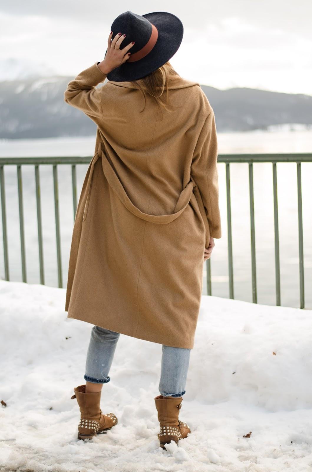 kristjaana mere mango camel coat winter outfit