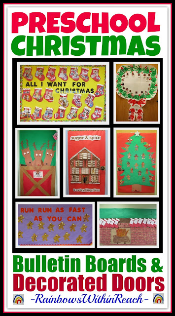 Christmas Bulletin Boards and Decorated Classroom Doors via RainbowsWithinReach