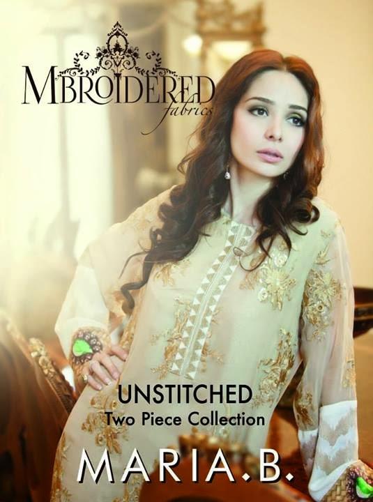 Maria B Mbroidered Fabric featuring Juggan Kazim & Fauzia Aman