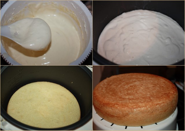 Рецепт для мультиварки выпечки бисквит