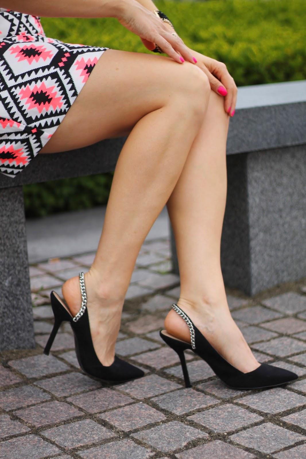 black, slingback, heels