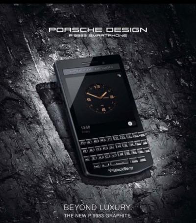 BlackBerry Porsche Design P'9983 Graphite Dibanderol Rp.25 Jutaan