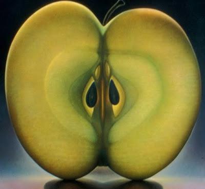 manzana-hiperrealismo-oleo