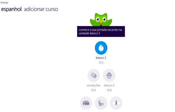 Duolingo é gratuito e não tem taxas e nem anúncios