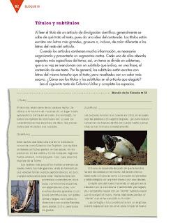 Apoyo Primaria Español 3er grado Bloque 3 lección 1 Práctica social del lenguaje 7, Armar una revista de divulgación científica para niños