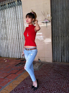 Votey Teav Khmer Girl Sexy Shirt and Hot Jean 8