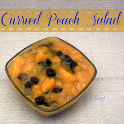 With A Blast: Curried Peach Salad      #salad #peach #currysalad