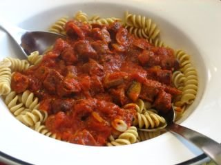 Lamb Merguez Pasta - Again