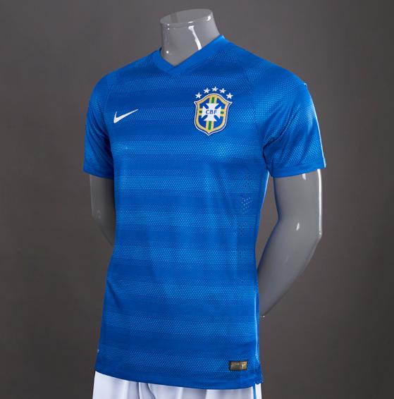 New Brazil Away World Cup Jersey 2014- Nike Blue