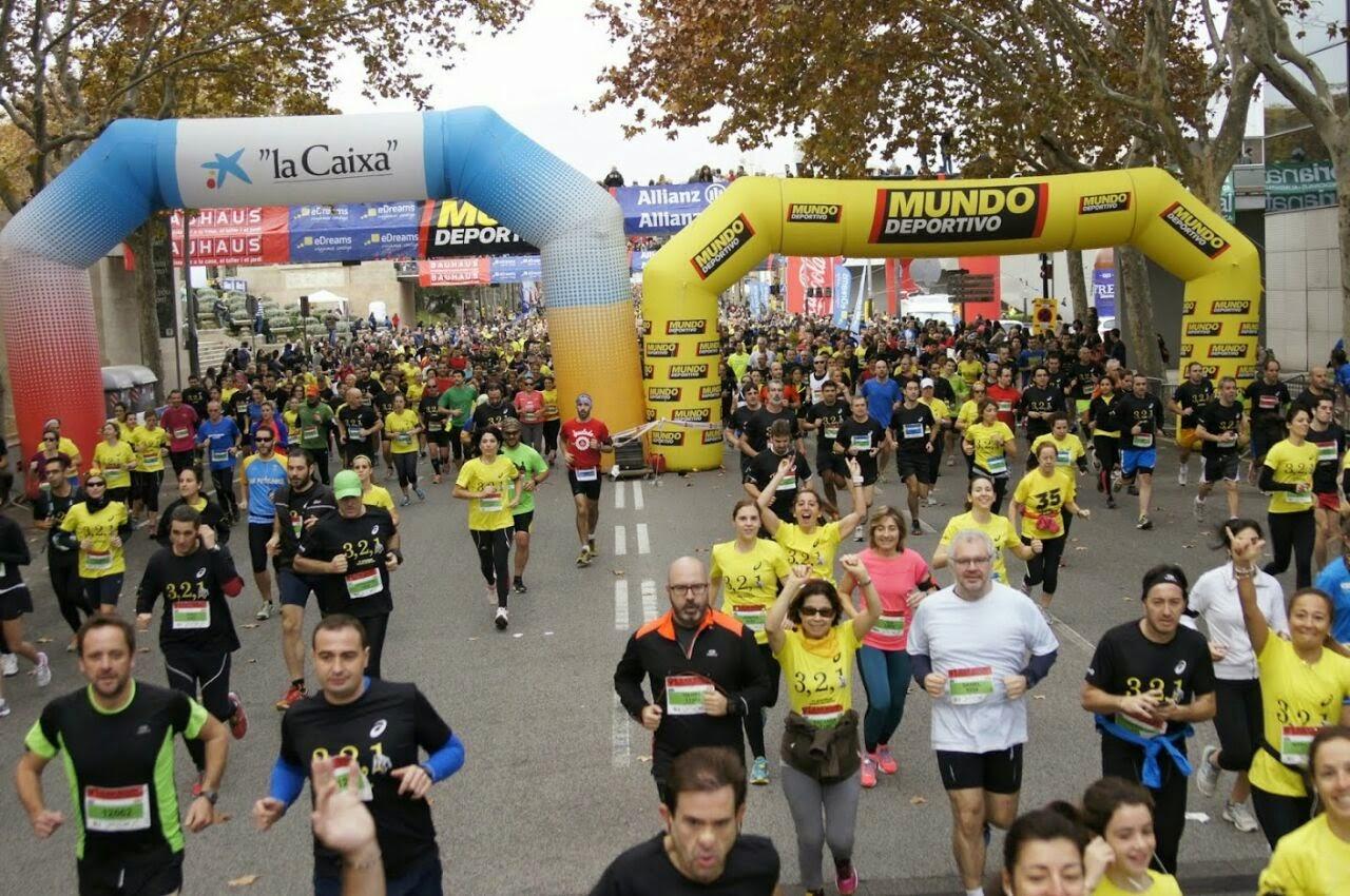 Cursa Jean Bouin Salida correr solo acompañado