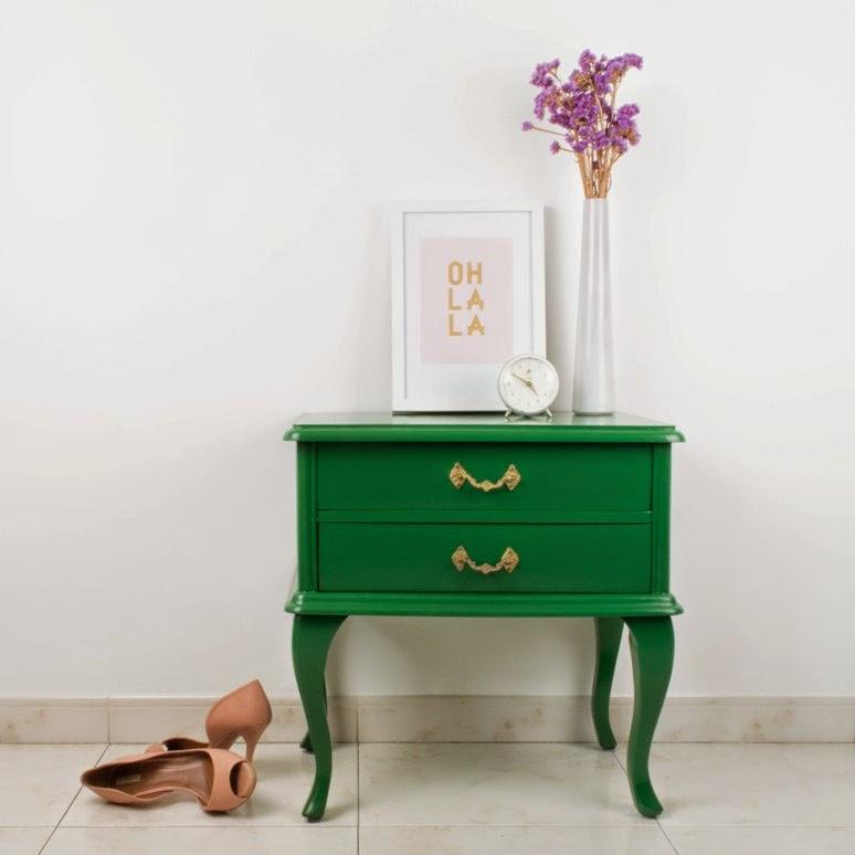 Mesitas de noche pintada decorar tu casa es - Restaurar mesita de noche ...