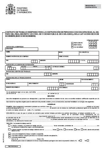 Contrato de trabajo agosto 2015 for Contrato indefinido ejemplo