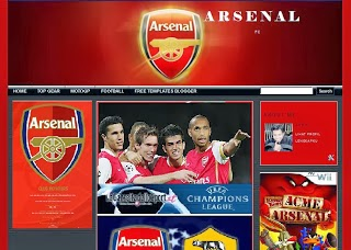 Arsenal Blogger Template