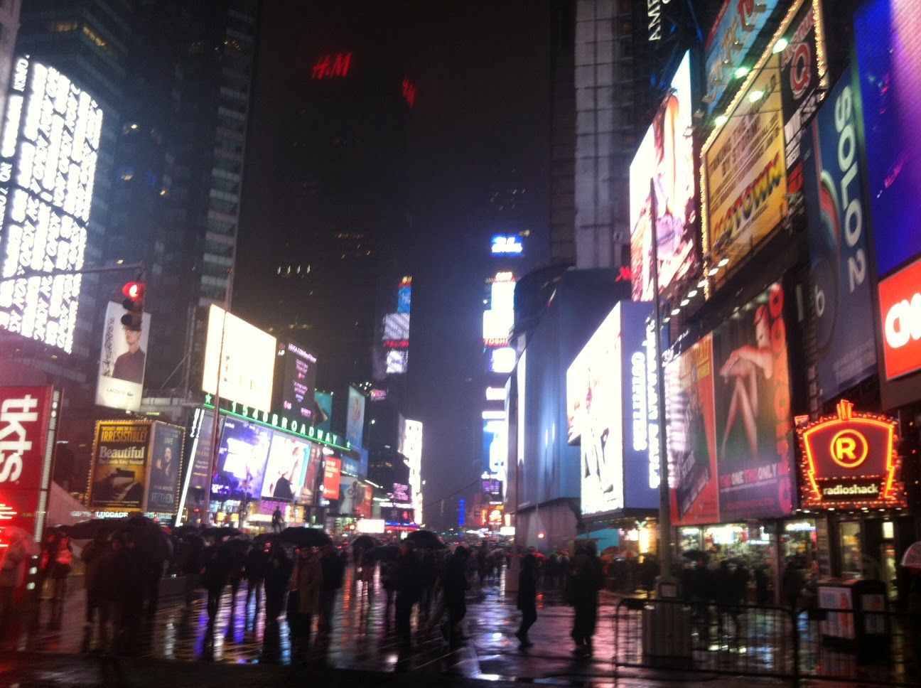 View of Times Square by Maja Trochimczyk