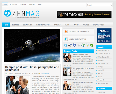 ZenMag Blogger Theme