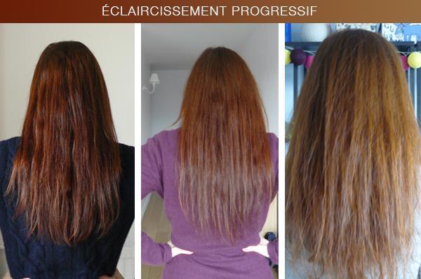 Les moyens professionnels à la sortie des cheveux