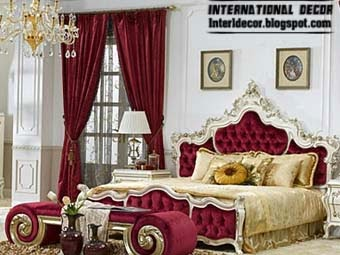 burgundy bed royal design luxury bedroom designs - Luxurious Bed Designs