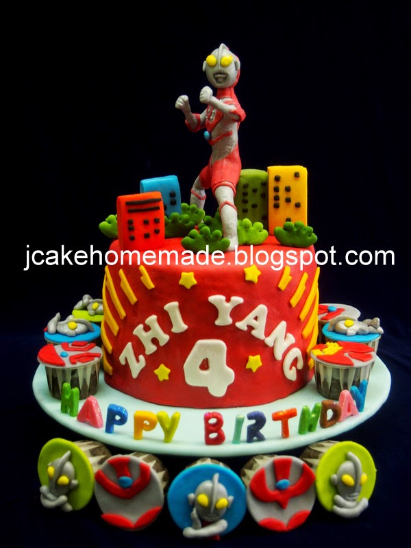 Jcakehomemade Ultraman birthday cake