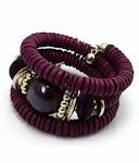 Purple Spiral Bracelet